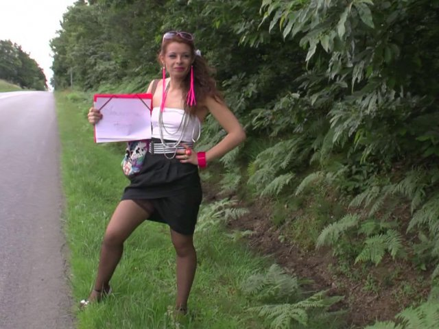video chaude d'une auto-stoppeuse très salope